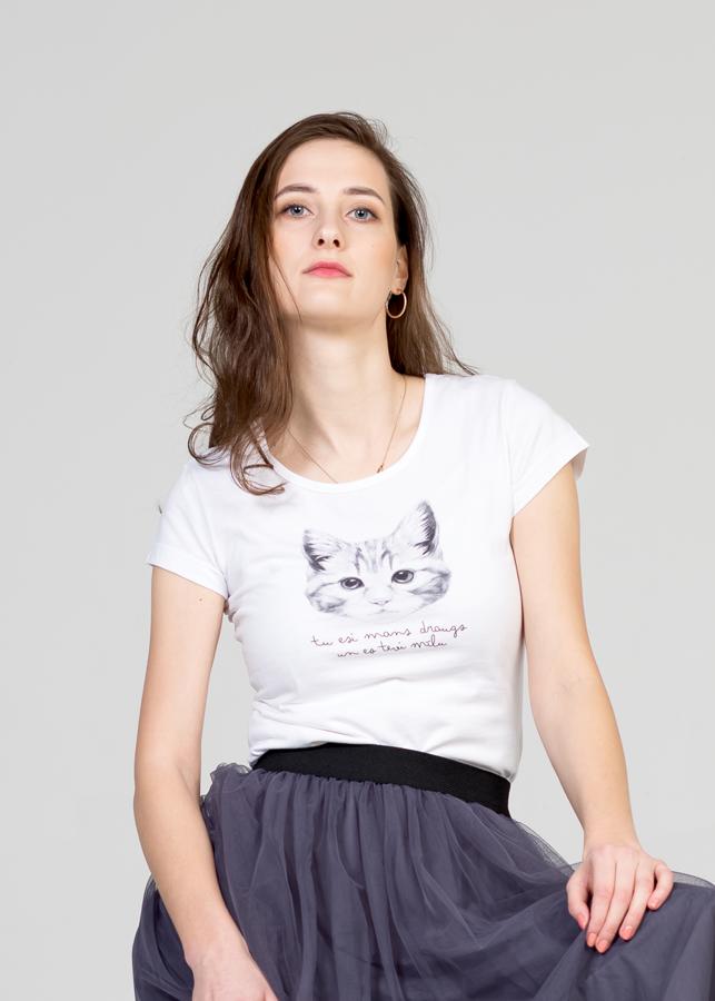Sieviešu T-krekls - kaķēns