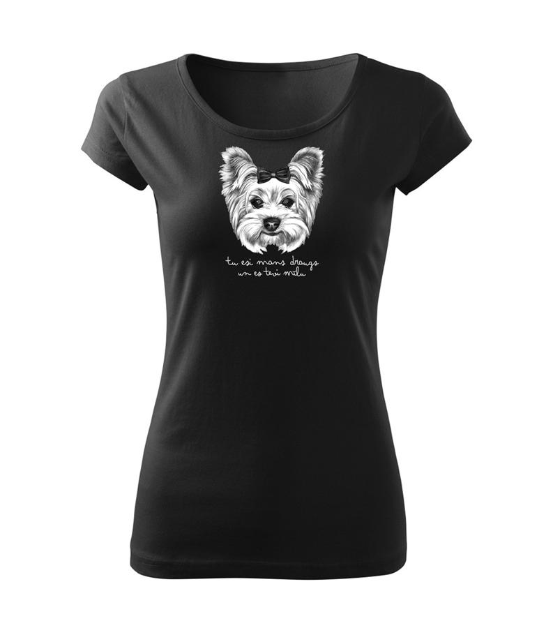 Sieviešu T-krekls Jorkšīras terjers