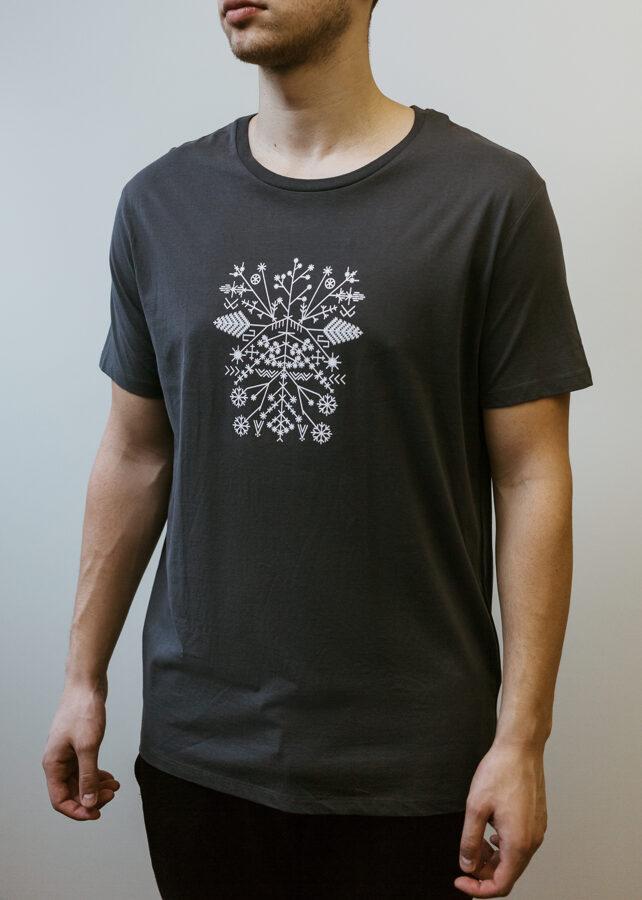 Vīriešu Saulgriežu t-krekls, tumši pelēks