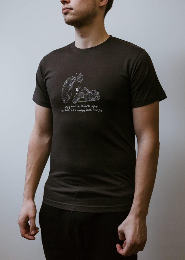 Vīriešu T-krekls Lāči, tumši pelēks