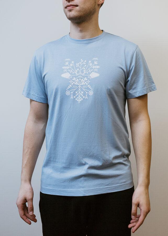 Vīriešu Saulgriežu t-krekls, gaiši zils