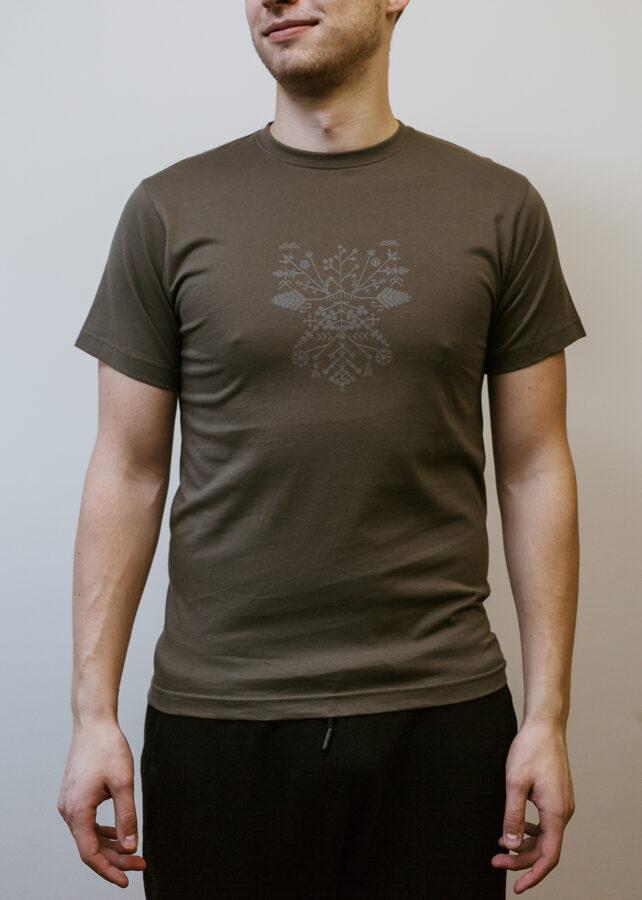 Vīriešu Saulgriežu t-krekls, haki