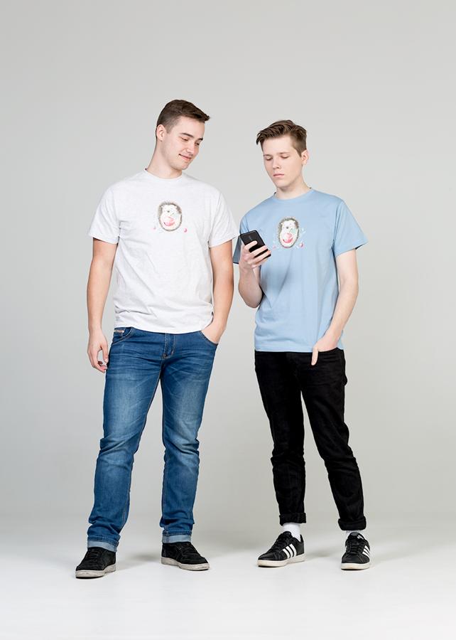 Vīriešu T-krekls Ezītis ar ābolīti