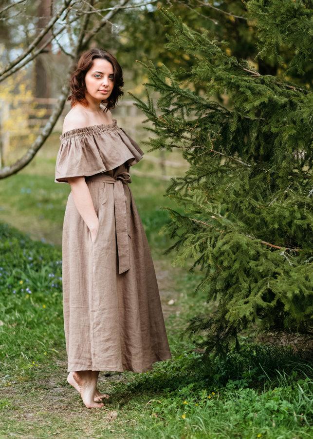 Lina kleita – gaiši brūna