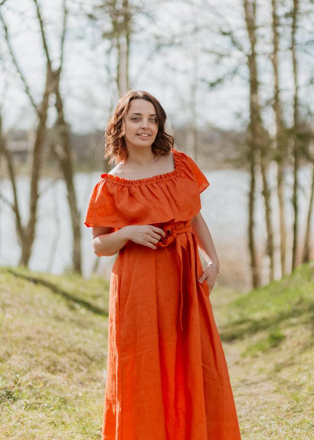 Lina kleita – oranža