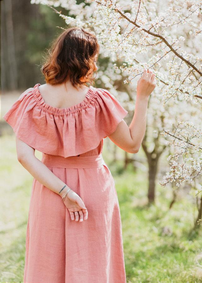 Lina kleita – rožu rozā