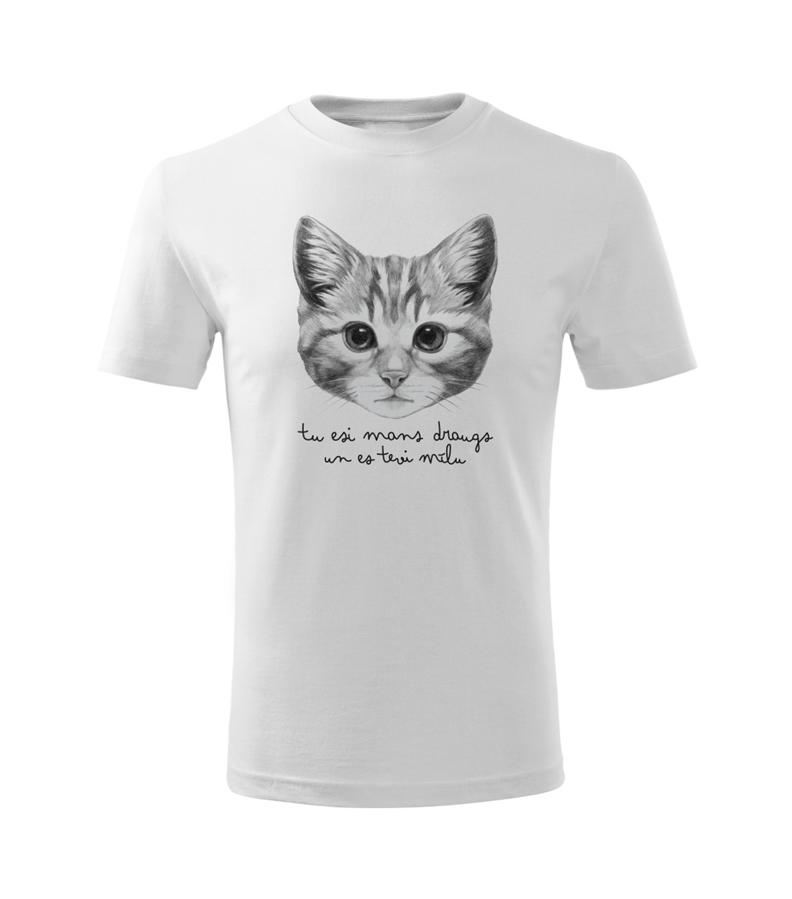 Bērnu t-krekls Kaķēns / balts