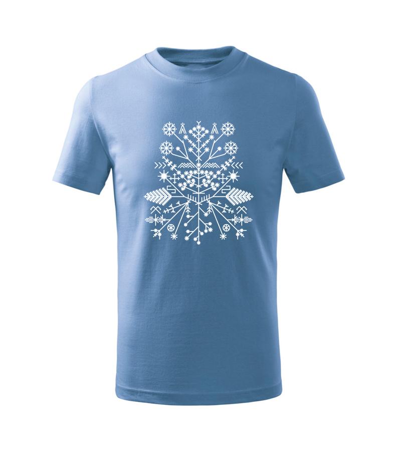 Bērnu Saulgriežu raksta t-krekls / zils