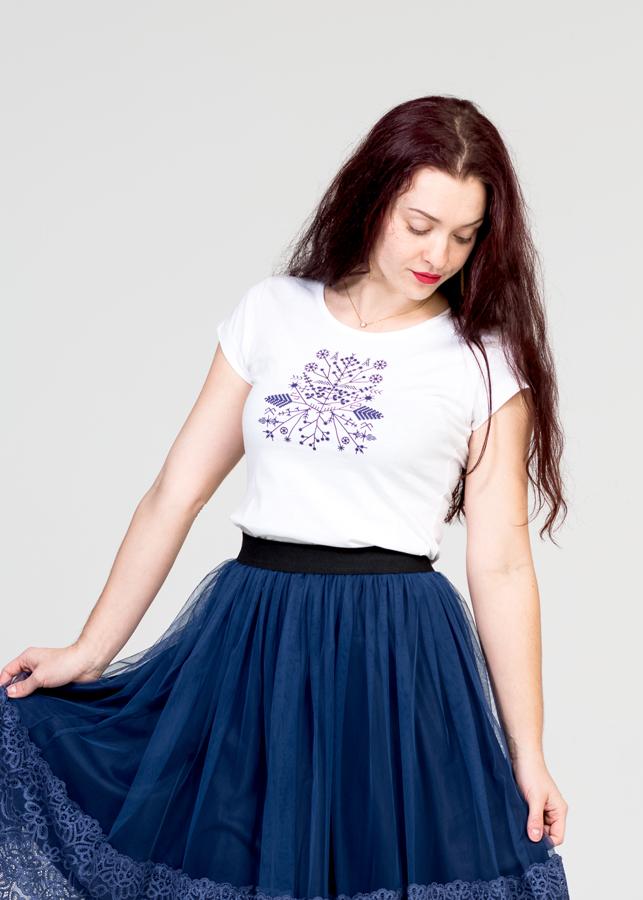 Sieviešu T-krekls | Saulgrieži/zils