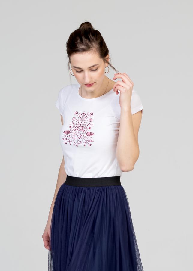 Sieviešu T-krekls, Saulgrieži/karmīnsarkans