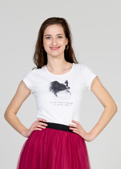 Sieviešu T-krekls Papilons