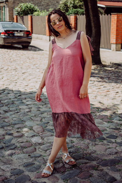 Lina kleita – punša rozā