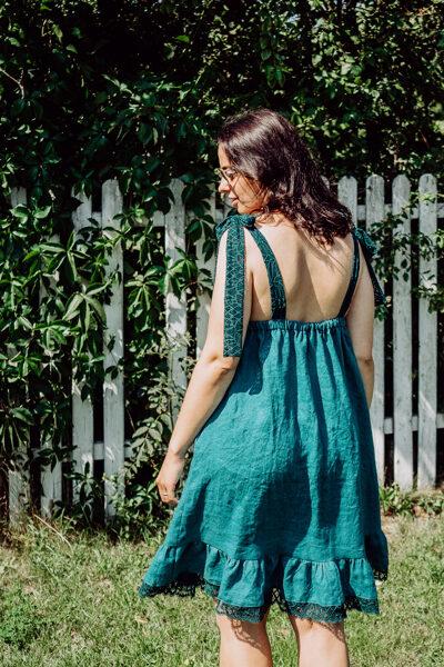 Lina kleita - smaragda zaļa