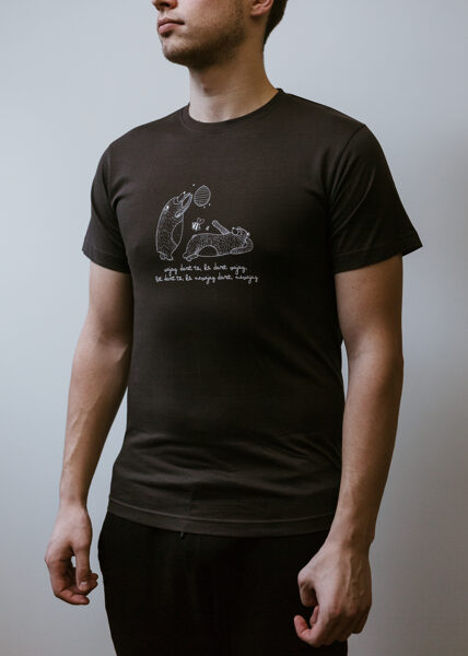 Men's T-shirt Bears, dark grey