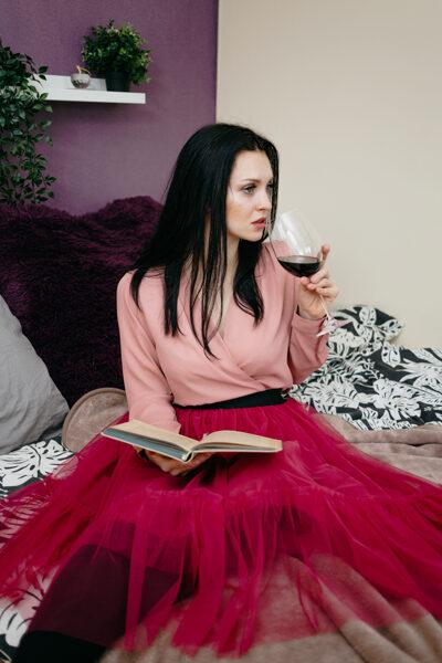 Tulle skirt - raspberry/frill -20% off ❤️