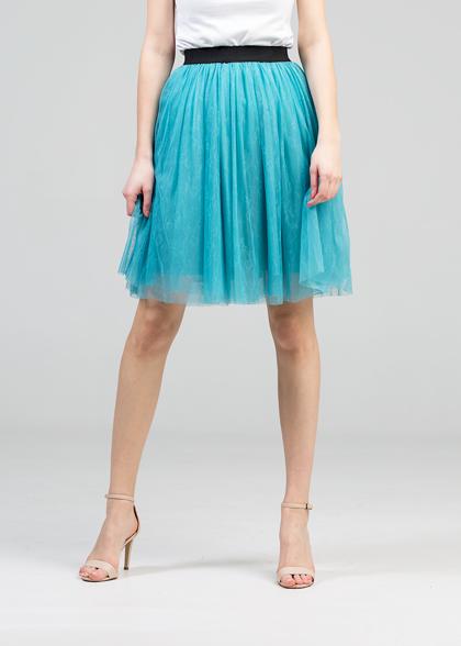 Tulle skirt - turquoise blue