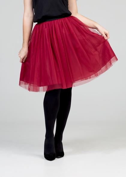 Tulle skirt - red