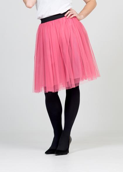 Tulle skirt - flamingo pink