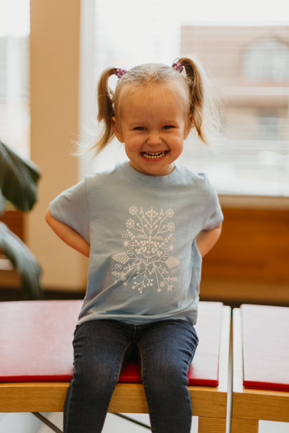 Children's t-shirt Solstice pattern / blue