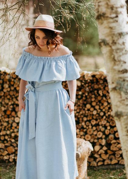 SALE 🛍️ Linen dress – light blue 🛍️ SALE