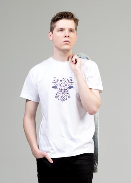 Vīriešu T-krekls Saulgrieži|Zils